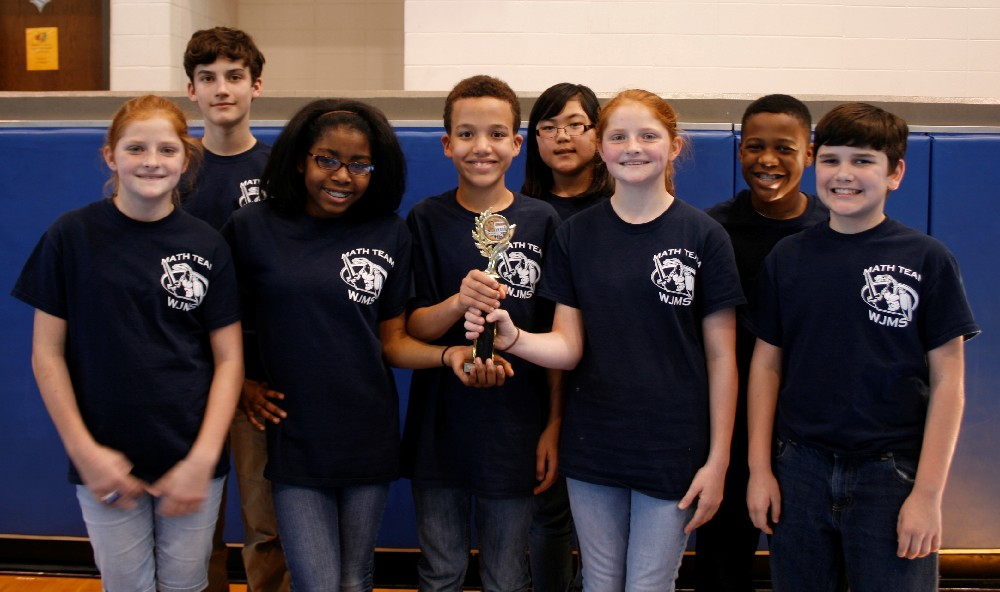Team Ciphering 6th Grade First Place WJMS